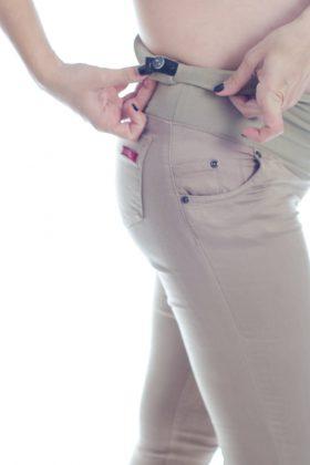 מכנס הריון סופר סקיני – קאמל