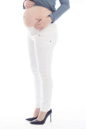 מכנס הריון סופר סקיני – לבן