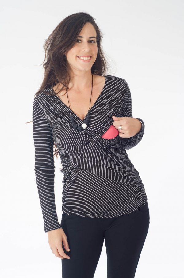חולצת הנקה - דנה פסים