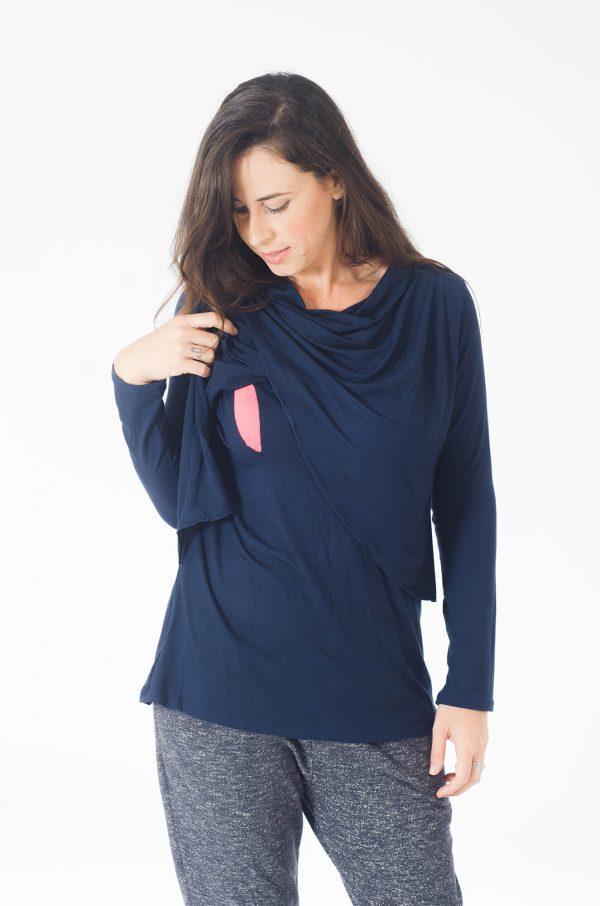 חולצת הנקה - גילת כחול