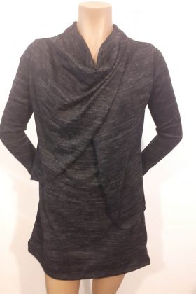 Breast Feeding Knit Blouse – Gal – Gray