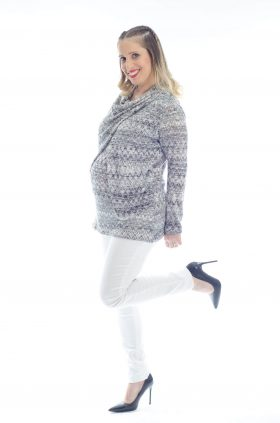 Gal - Pregnancy Sweater - Printed Gray
