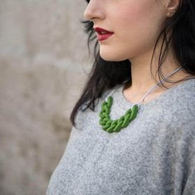 Link Silicon Necklace - Green
