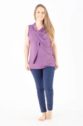 Nursing Tank Top - Inbar - Purple