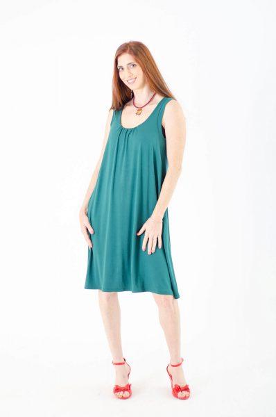 שמלת הנקה - ליבי ירוק כהה