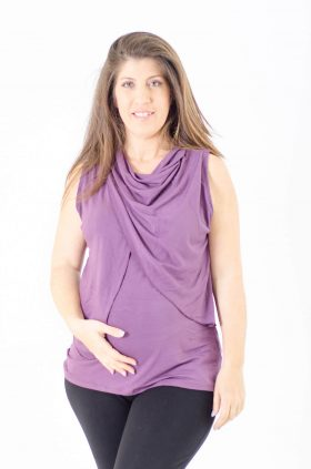 Maternity Tank Top - Inbar - Purple