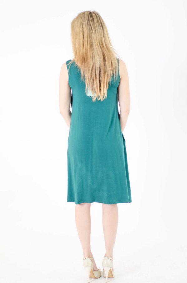 שמלת הריון - ליבי ירוק כהה