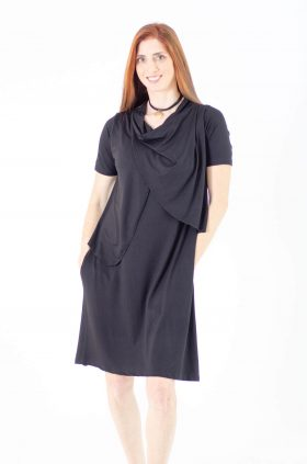 Breast Feeding Dress - Efrat - Black