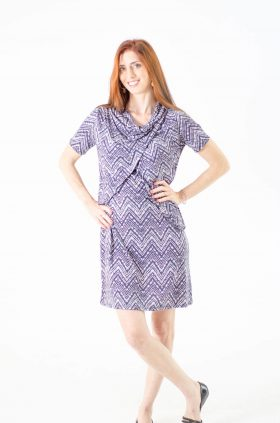 Breast Feeding Dress - Efrat - Printed