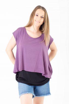 Breast Feeding Top - Mix-n-match - Purple