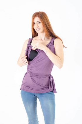 Breast Feeding Blouse – Emma – Purple