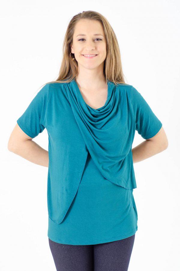 חולצת הנקה גילת בצבע טורקיז