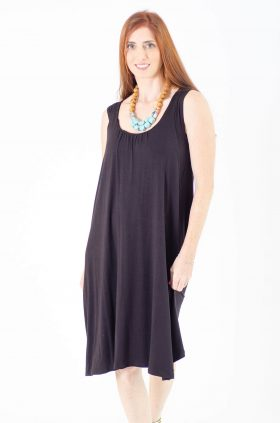 Breast Feeding Dress - Liby - Black