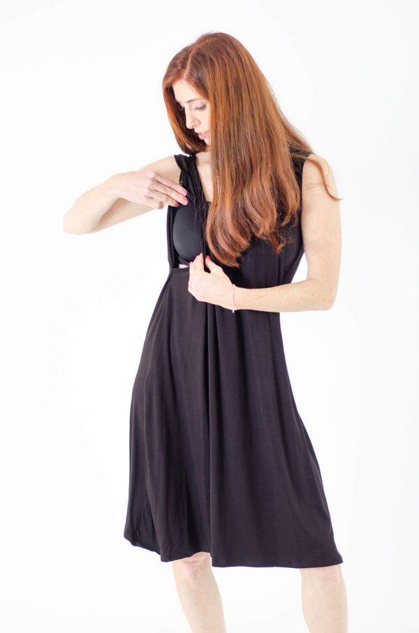 שמלת הנקה - ליבי שחור