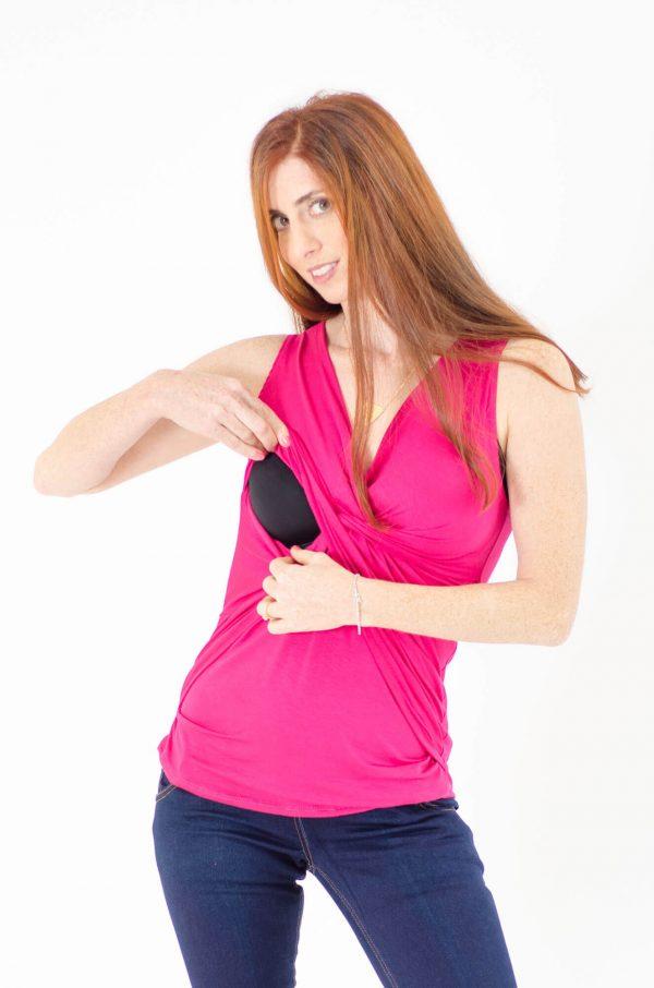 חולצת הנקה ניצן בצבע ורוד