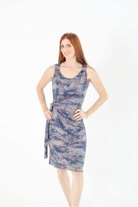Breast Feeding Dress - Sonya - Blue Gray