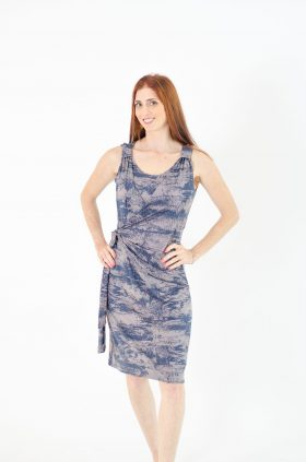 Breast Feeding Dress - Sonya - Blue Gray