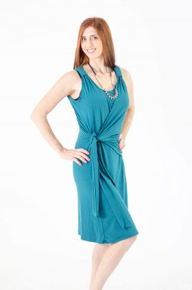 Breast Feeding Dress - Sonya - Turquoise