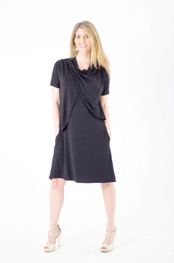 שמלת הריון אפרת בצבע שחור