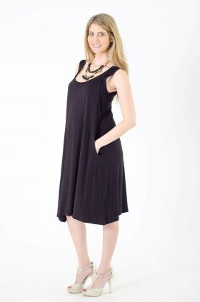 Maternity Dress - Liby - Black