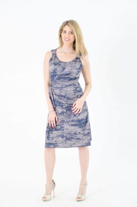 Maternity Dress - Sonya - Blue Gray