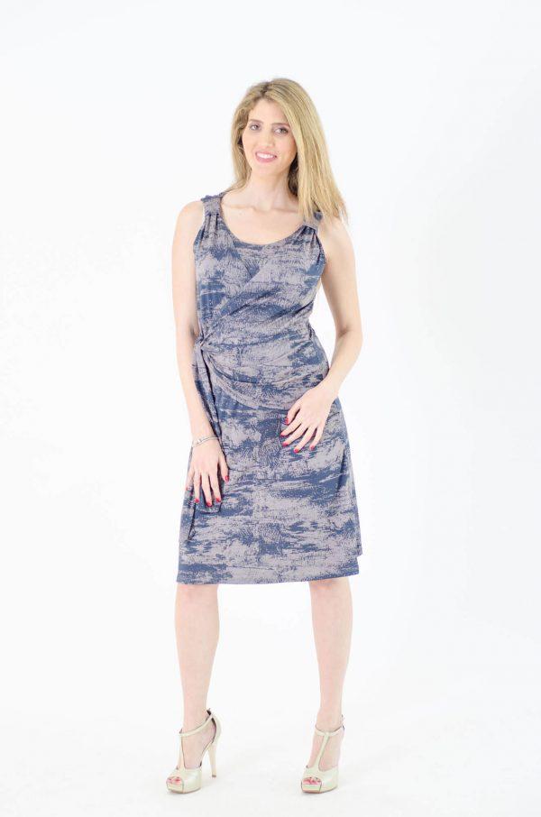 שמלת הריון - סוניה כחול אפור