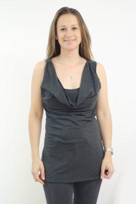 חולצת הנקה – גלי אפור
