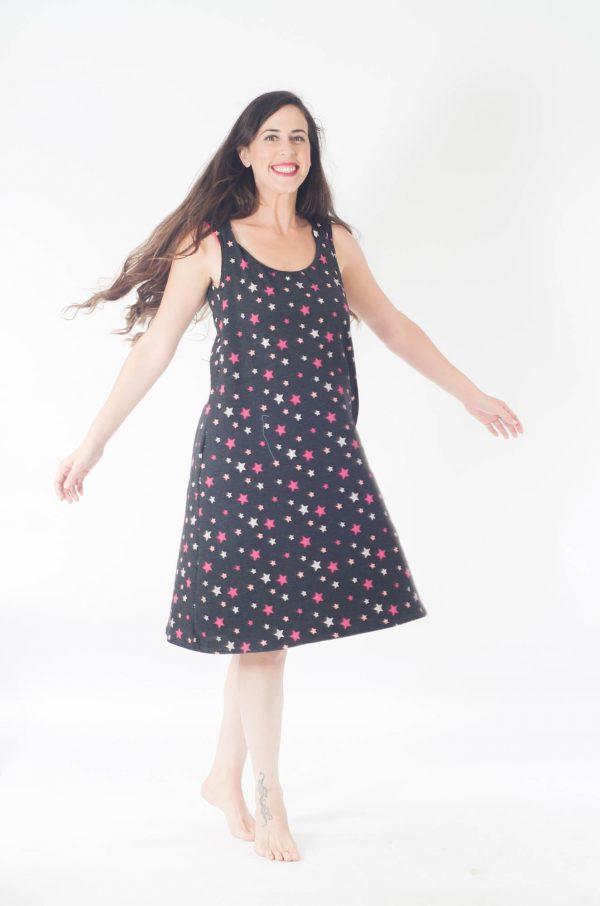 שמלת הנקה - ליבי שחור כוכבים