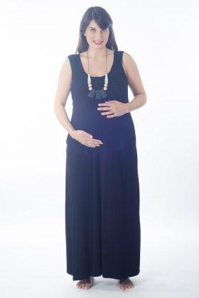 Breast Feeding Dress – Anna – Black