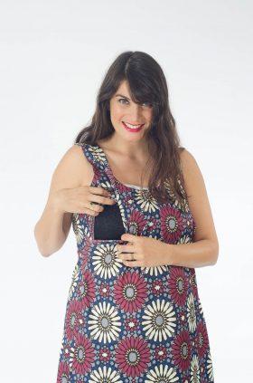 שמלת הנקה - אנה מודפס