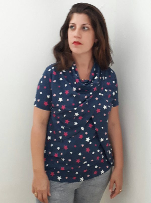 חולצת הנקה – גילת שחור כוכבים
