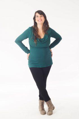 Breast Feeding Blouse - Shira - Green