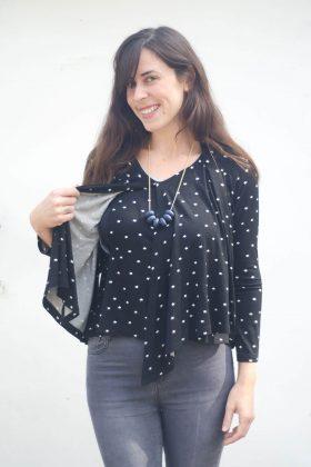 חולצת הנקה – שרון שחור כוכבים