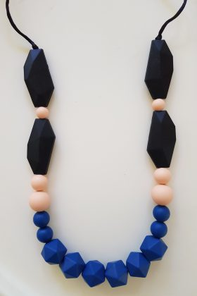 Stone Silicon Necklace – Blue Navy