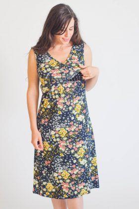 שמלת הנקה – איה כחול הדפס