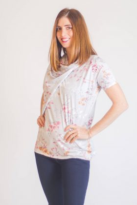 Breast Feeding Blouse – Gilat – Flowers