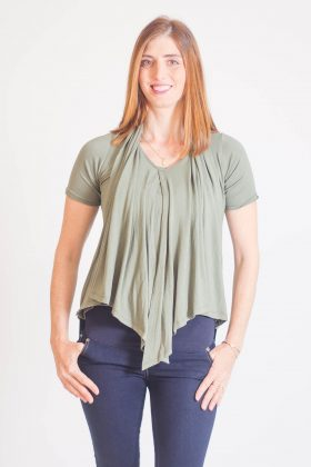 Breast Feeding Blouse – Sharon – Olive Green