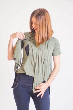 חולצת הנקה – שרון ירוק זית