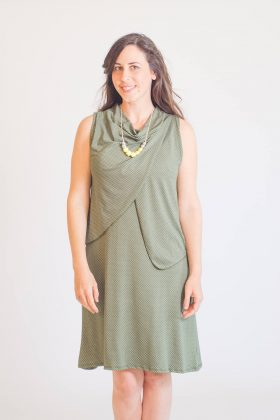 Breast Feeding Dress – Meital – Olive