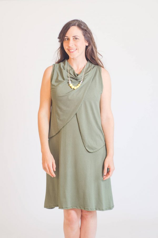 Breast Feeding Dress - Meital - Olive