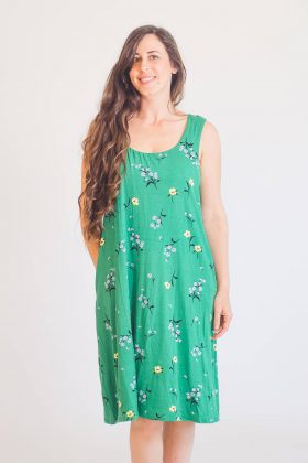 שמלת הנקה – ליבי ירוק פרחוני