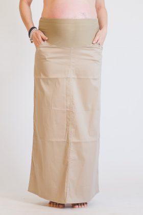 חצאית הריון אורך מקסי- בג' גזרת A