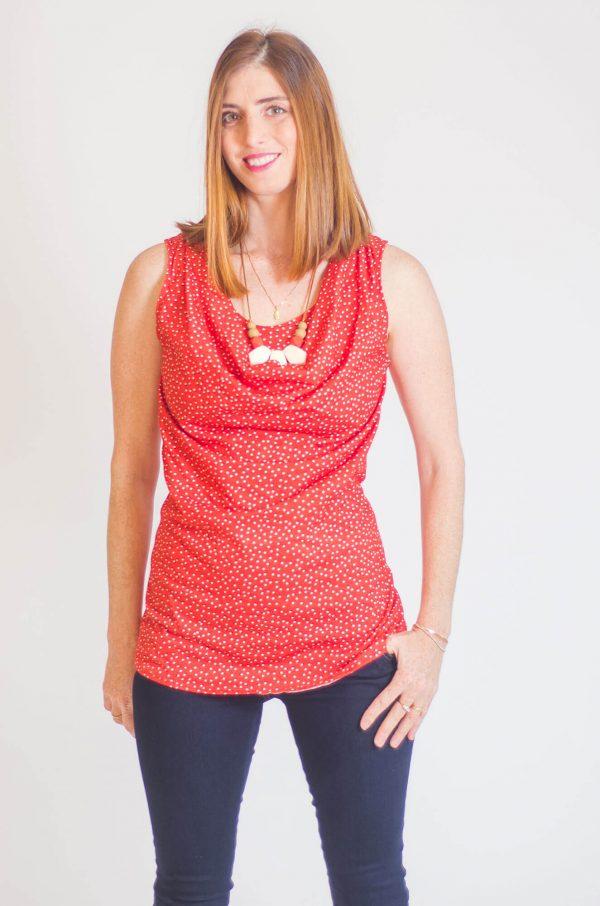חולצת הנקה – גלי אדום