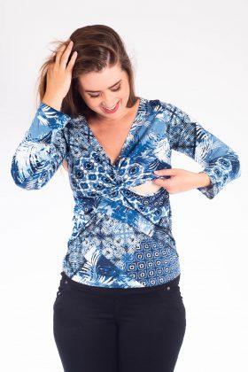 חולצת הנקה – דנה כחול מודפס