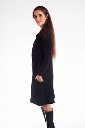 Maternity Dress Knit – Efrat – Black (העתק)