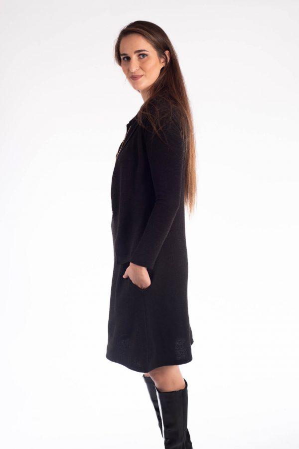 שמלת הנקה - אפרת שחור סריג
