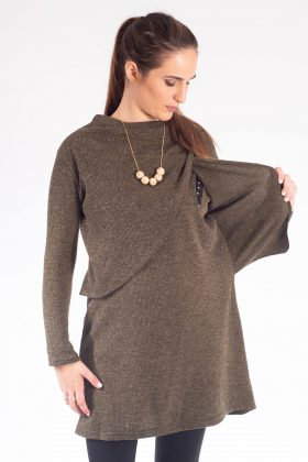 Pregnancy Knit Blouse – Gal – Olive Green