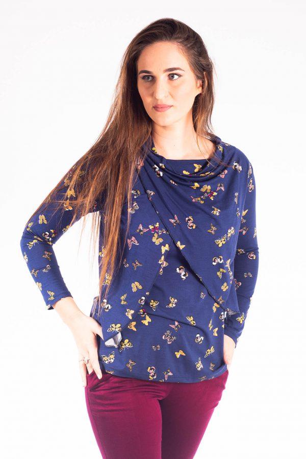 חולצת הנקה – גילת כחול פרפרים