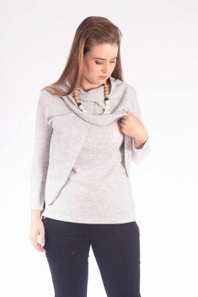 חולצת הנקה – גילת סריג אפור