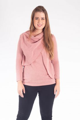 Breast Feeding Knit Blouse – Gilat – Pink